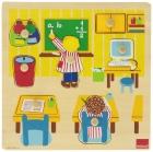 Puzzle de madera escuela