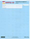 Paquete de 25 cuadernillos de respuesta 2 del WPPSI - IV Cancelación