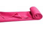 Toalla de Yoga Confort antideslizante fucsia