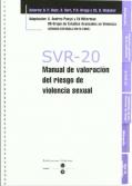 SVR-20 - Manual de valoración del riesgo de violencia sexual (con 25 hojas de protocolo)