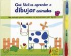Qué fácil es aprender a dibujar animales. Una divertida pizarra borrable con instrucciones paso a paso.