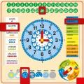 Reloj calendario de madera grande