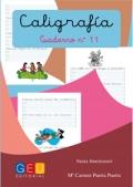 Caligrafía. Cuaderno 11. Pauta Montessori