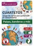 Cuartetos. Países, banderas y más. Juego de cartas para potenciar el conocimiento