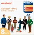 Figura de familia europea (8 figuras)