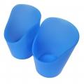 Vaso de plástico flexible con recorte azul 60 ml (2 unidades)