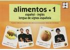 Alimentos 1. Español - Inglés. Lengua de signos española