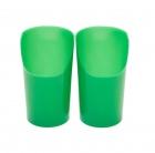 Vaso de plástico flexible con recorte verde 210 ml (2 unidades)