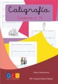 Caligrafía. Cuaderno 15. Pauta Montessori