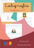 Caligrafía. Cuaderno 17. Pauta Montessori