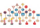 25 señales de tráfico de madera