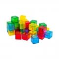 Cubos translúcidos de colores (36 unidades)