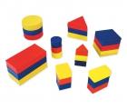 Bolsa de bloques lógicos de madera (48 piezas)