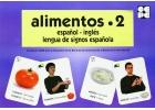 Alimentos 2. Español - Inglés. Lengua de signos española
