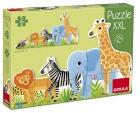 Puzzle XXL. Decreciente animales de la selva