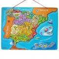 Mapa de España de madera y magnético