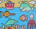 Encaje temática el mar