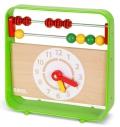 Ábaco con reloj clásico de madera