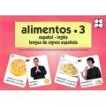 Alimentos 3. Español - Inglés. Lengua de signos española