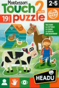 Montessori Touch 2 pieces puzzle. La granja