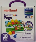 Activity pegs . 18 piezas