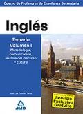 Inglés. Temario. Volumen I.  Cuerpo de Profesores de Enseñanza Secundaria.