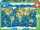 Puzzle 200 piezas Mapamundi Aldeas Infantiles SOS