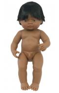 Baby latinoamericano niño con pelo (38 cms)
