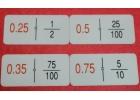 Dominó de fracciones y números decimales