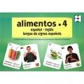 Alimentos 4. Español - Inglés. Lengua de signos española