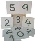 Números de lija en estuche de madera (xango)