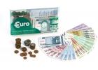 Billetes y monedas de euro para jugar
