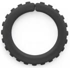 Brazalete pequeño masticable duro con textura (negro)