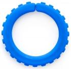 Brazalete pequeño masticable extra duro con textura (azul real)
