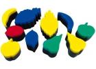 Esponjas de impresión de frutas (10 unidades)