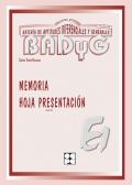 Paquete de 10 Hojas de Presentación de Memoria de BADYG E1, Bateria de Aptitudes Diferenciales y Generales.