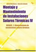 Montaje y mantenimiento de instalaciones solares térmicas IV (MF0605_2)