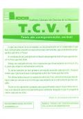Cuadernillos del TCV 1 (paquete de 10)