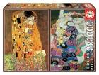 Educa Puzzle 2x1000 piezas. El Beso + La Virgen (Gustav Klimt)