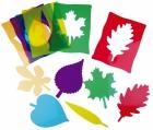 Siluetas de hojas Montessori (translúcidas)