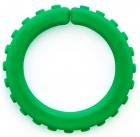Brazalete pequeño masticable extra duro con textura (verde bosque)