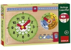 Petit calendrier en bois horloge