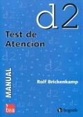Paquete de 25 ejemplares autocorregibles del d2, test de atención
