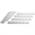 Regletas de plástico para letras, numeros.... (8 unidades)