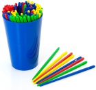 Cubilete con 100 agujas plástico para cordón