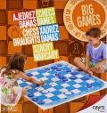 Tapete de juego de ajedrez y damas (1m cuadrado)