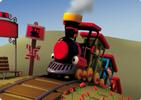 Mapi, la alegre locomotora de vapor. Cuento (inglés-español) para Kamishibai A4