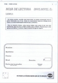 Paquete de 25 Hojas de Lectura de INVE E2, Inteligencia Verbal.