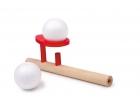 Cerbatana de madera soplar pelota