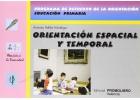 Orientación espacial y temporal. Programa de refuerzo de la orientación. Educación primaria.